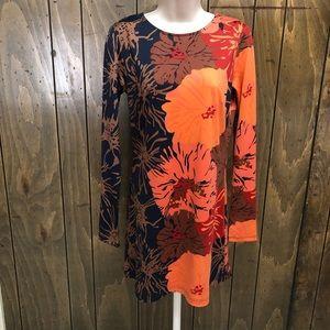JB Julie Brown brown and orange floral dress sz M